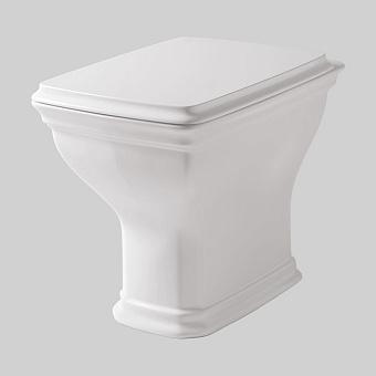 Artceram CIVITAS Унитаз напольный 36х54 см, с крепеж. слив в пол, цвет белый с сиденьем белым петли хром, микролифт