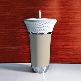 Falper George Раковина напольная 58х58х87 см, выпуск в стену, цвет: Hemp