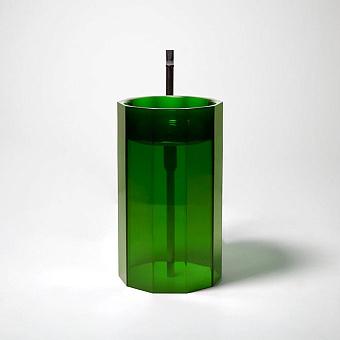 Antonio Lupi Vitreo Раковина напольная, без отв. под смеситель, слив в пол, цвет: Bottiglia