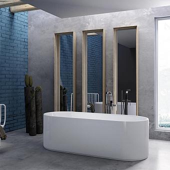 Flaminia Oval Ванна отдельностоящая  170x70xh53см, материал: Pietraluce, цвет: bianco