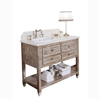 Gentry Home Dustin Комплект мебели 110х115х58 см с раковиной и марморным топом