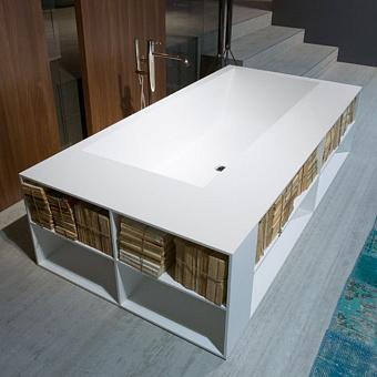 Antonio Lupi Biblio Ванна прямоугольная 200х100х53.5 см в комплекте с регулируемыми ножками и нажимным донным клапаном.