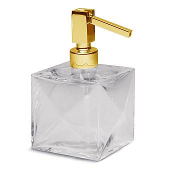 Bertocci Grimilde Дозатор настольный, цвет: прозрачный хрусталь/золото матовое