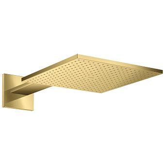 Axor ShowerSolutions Верхний душ, 30x30см, 1jet, с держателем 45см, настенный, цвет: полированное золото
