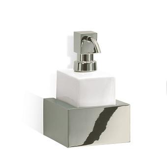 Decor Walther Brick WSP Дозатор для мыла, подвесной, фарфор белый, цвет: никель полированный