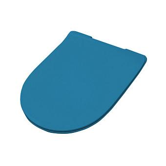 Artceram FILE 2.0 Крышка с сиденьем Slim для унитаза, механизм soft-close, цвет: avio/хром