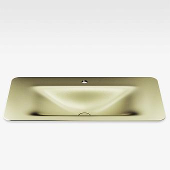 Armani Roca Baia Раковина 90x47 см, 1 отв., встраиваемая сверху, со скр. переливом, цвет: shagreen matt gold
