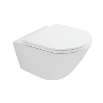 GLOBO Forty3 Унитаз подвесной  безободковый 52x36 см, с системой скрытого крепежа, цвет: белый