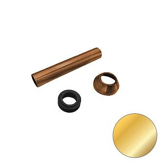 KERASAN Набор для подключения скрытого смывного бачка к напольному унитазу d=40мм, цвет золото