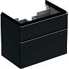 Geberit iCon Тумба с раковиной 74х62х47.7см, с 1 отв., подвесная, с двумя выдвижными ящиками, цвет: темно-серый/матовое покрытие