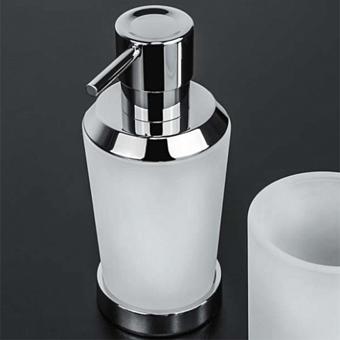 Colombo Road Дозатор для жидкого мыла настольный L0.25, цвет: хром/стекло