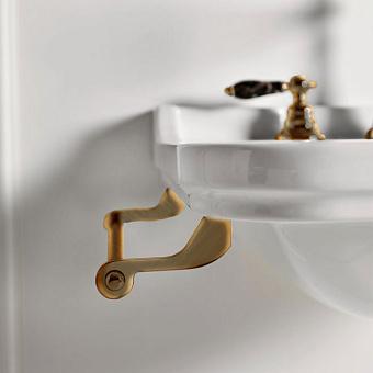 Kerasan Waldorf Полотенцедержатель боковой для раковин 40 см, подвесной, цвет: бронза