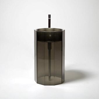 Antonio Lupi Vitreo Раковина напольная, без отв. под смеситель, слив в пол, цвет: Fume
