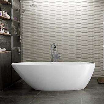Victoria + Albert Mozzano Ванна 164х74хh50см, отдельностоящая, Quarrycast, цвет: белый матовый