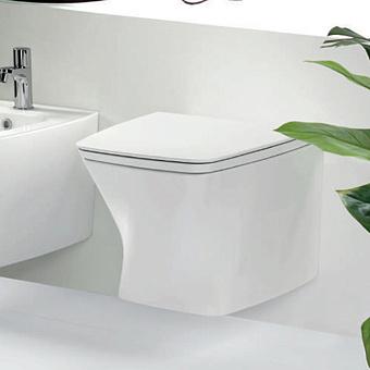 Azzurra Hera Унитаз подвесной  57х38х36,5 см, покрытие Easy-Clean, цвет белый