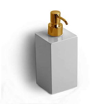 Bertocci Settecento Дозатор подвесной, цвет: белый матовый композит/золото