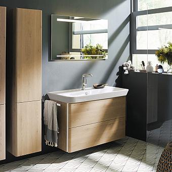 Burgbad Iveo Комплект мебели с раковиной и зеркалом 1000 мм, цвет: кашемировый дубовый