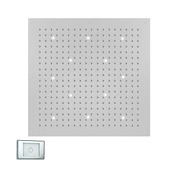 BOSSINI DREAM-XL CUBE Верхний душ 1000 x 1000 мм, с 12 LED (белый), блок питания/управления, цвет: хром