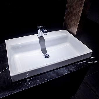 TOTO MH Раковина 50x46x16.7 см, 1 отв., полувстраеваемая, CeFiONtect, цвет: белый