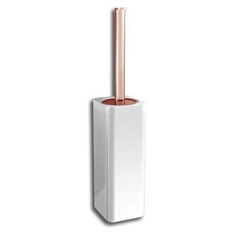 Bertocci Cento Ерш напольный, цвет: белая керамика/розовое золото