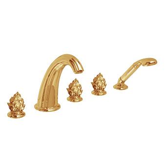 Cristal et Bronze Odiot Смеситель для ванны, цвет золото 24 к.