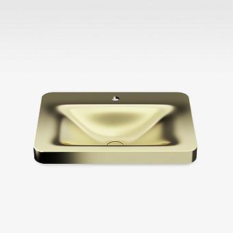 Armani Roca Baia Раковина 66x47 см, 1 отв., встраиваемая сверху, со скр. переливом, цвет: matt gold