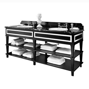 Gentry Home Nottingham 200 Комплект мебели 204х101,5х60 см с раковиной и мраморным топом