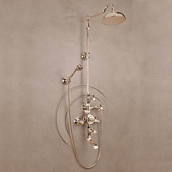 Herbeau Monarque Термостатический смеситель для ванны и душа на 3 отверстия, цвет блестящая латунь