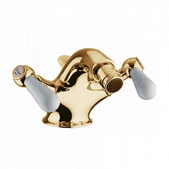 Bongio Oxford Lux, Смеситель для биде, цвет: золото/белый фарфор