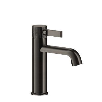 """Gessi Inciso- Смеситель однорычажный с донным клапаном на 1 1/4"""", соединительные шланги на 3/8"""". цвет: black XL"""