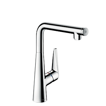 Hansgrohe Talis Select S, Смеситель для кухни, с поворотным изливом, Цвет: сталь