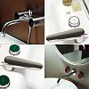Zucchetti Savoir Смеситель для ванны на 2 отверстия с декорированным фланцем, излив 220 мм, цвет: хром