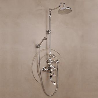Herbeau Monarque Термостатический смеситель для ванны и душа на 3 отверстия, цвет блестящий никель