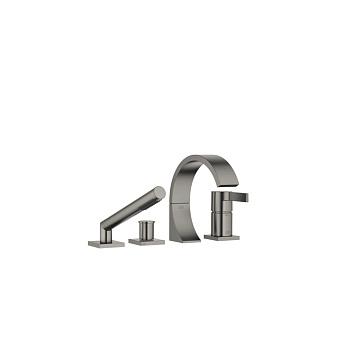 Dornbracht CYO Смеситель для ванны, на 4 отв., с ручным душем, цвет: черная платина матовая