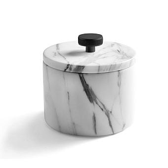 3SC Apuana 2.0 Баночка универсальная, D=8,5/h12 см, с крышкой, настольная, цвет: черный матовый