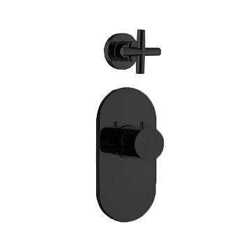 Carlo Frattini Fimatherm Смеситель для душа встроенный, термостатический, 1 запорный вентиль, цвет: черный матовый