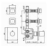 Zucchetti Soft Термостатический встроенный смеситель, с 2 запорными клапанами, цвет: хром