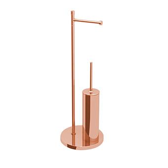 Bertocci Cinquecento Напольная стойка с ершиком и бумагодержателем, цвет: розовое золото