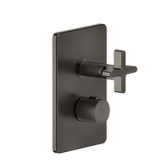 "Gessi Inciso+ Термостат. смесителя, с подкл., 1/2"", фильтрами и вентилем, на три источника, цвет: black XL"