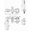 Zucchetti On Встроенный однорычажный смеситель для душа, гибкий шланг 1500 мм. с изливом цвет: хром