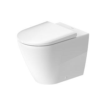 Duravit D-Neo Унитаз напольный 37х58х40 см, безободковый, слив в стену, WonderGliss, цвет: белый