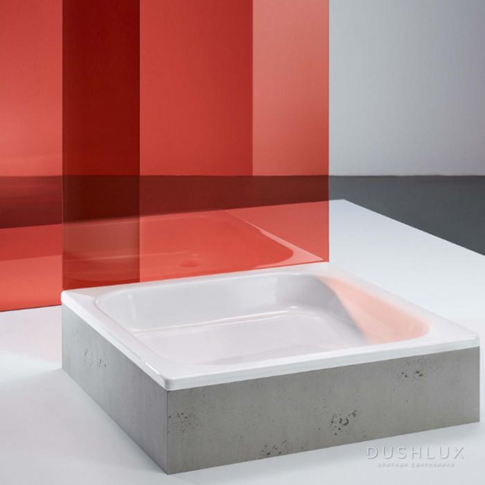 BETTE Душевой поддон BASIC прямоугольный 110х80х15см, D=5.2см, с самоочищающимся покрытием, цвет: белый