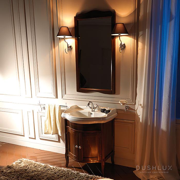 KERASAN Retro Комплект мебели, с закругленным фасадом, 69 см, цвет: noce