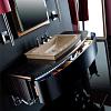 Karol Bania comp. №5, комплект подвесной мебели 140 см. цвет: Эбеновое дерево фурнитура: хром