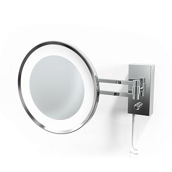 Decor Walther BS 36/V LED Косметическое зеркало 22см, подвесное, увел. 5x, подсветка LED, цвет: хром
