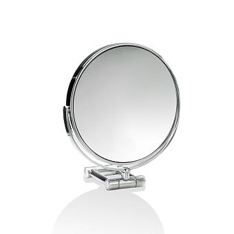 Decor Walther SPT 50 Косметическое зеркало 17см, настольное, увел. 5x, цвет: хром