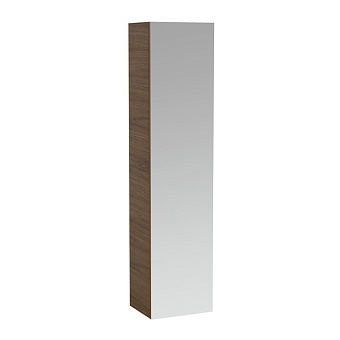Laufen Alessi One Шкаф подвесной, 400х300х1700мм, с 1 зер дверцей, 2 полки, 2 ящика, DX, цвет: орех