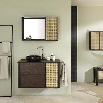 Burgbad MAX Комплект мебели 100х49х72см, подвесной, с раковиной, с зеркалом, с 2 ящиками, цвет: Dark chocolate oak