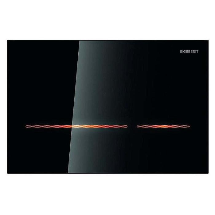 Geberit Инсталляция с сенсорной кнопкой, черное стекло