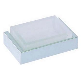 CISAL Quad Мыльница подвесная, цвет матовое стекло/хром